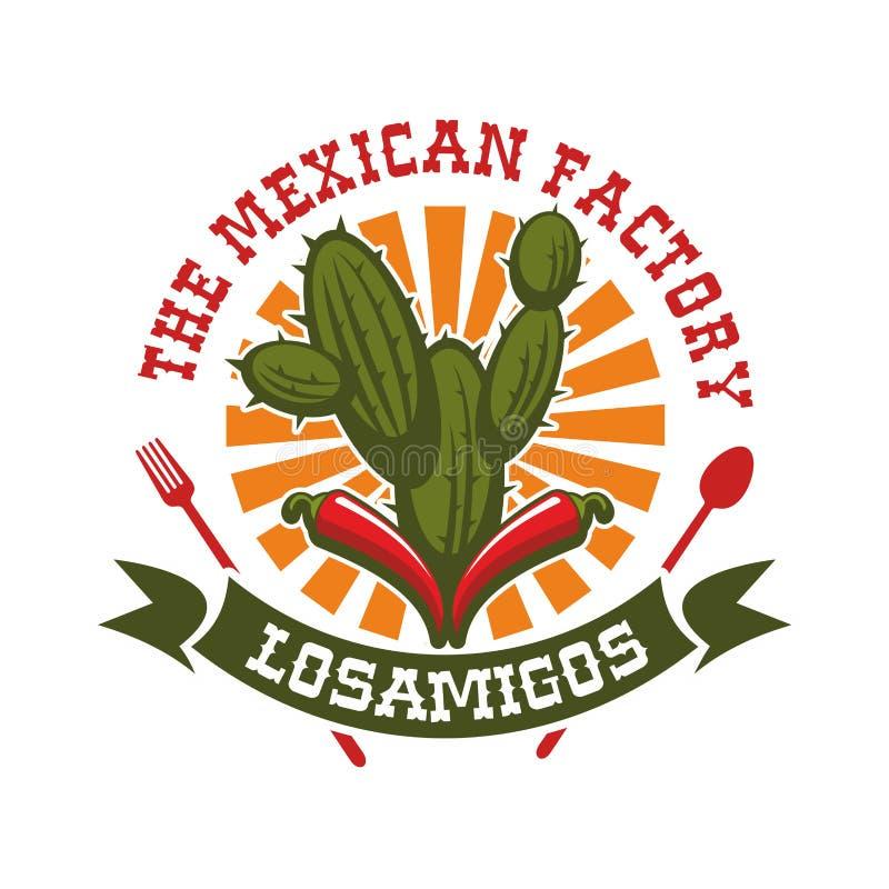 Meksykańskiego restauracyjnego wektoru odosobniona ikona ilustracji