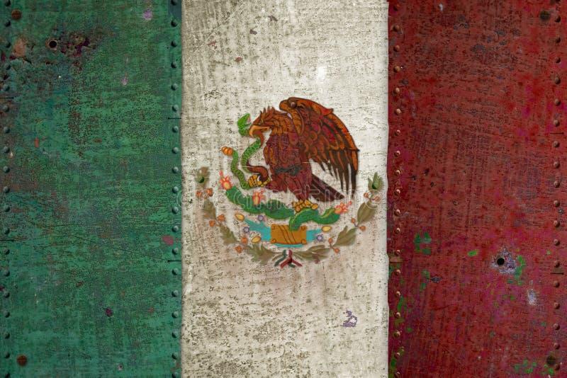 Meksykańskiej flaga Retro Grunge fotografia royalty free