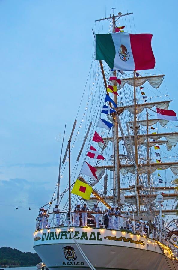 Meksykańskiej marynarki wojennej Stażowy naczynie Cuauhtémoc zdjęcia royalty free