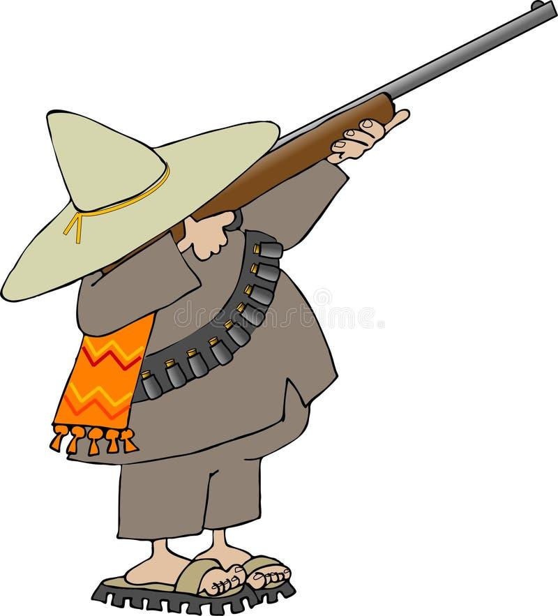 meksykanin bandito royalty ilustracja