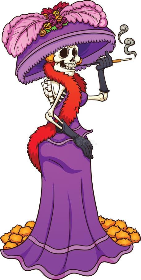 Meksykanin Catrina royalty ilustracja