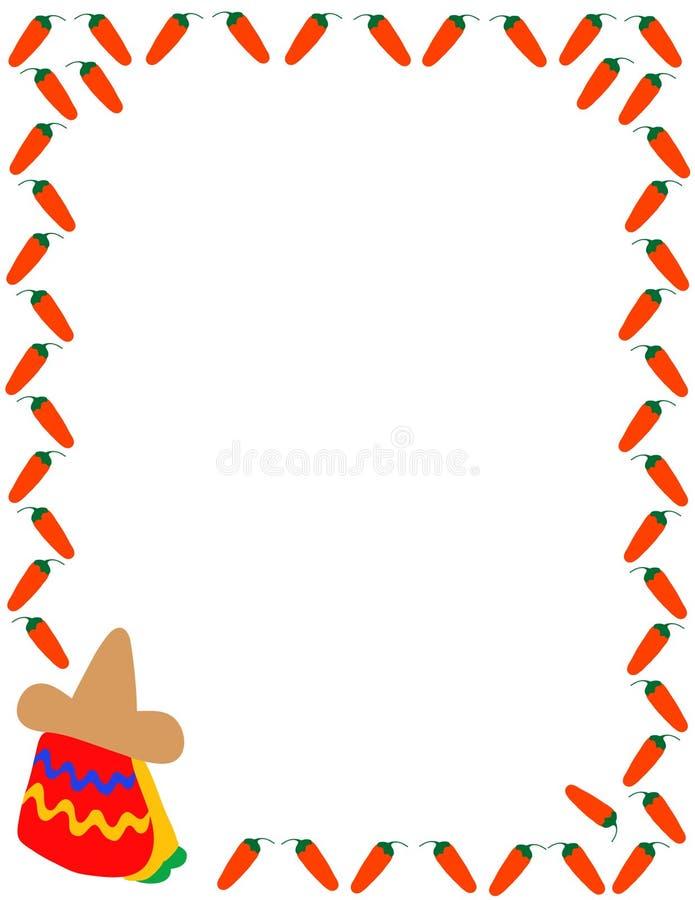 meksykanin graniczny ilustracja wektor