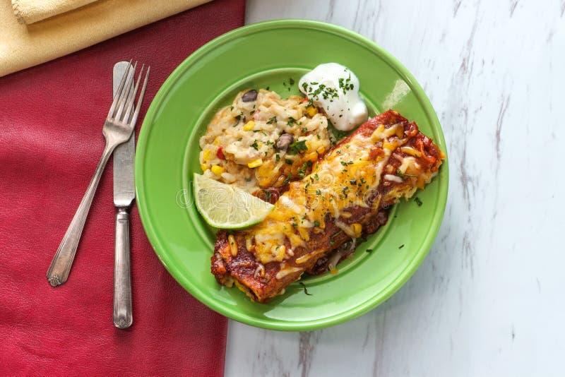 Meksykanina Chimichanga Enchilada zdjęcia stock