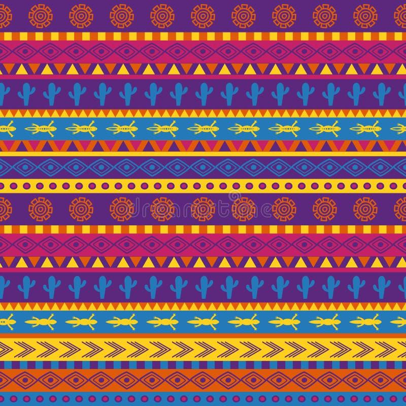 meksykanina wzór royalty ilustracja