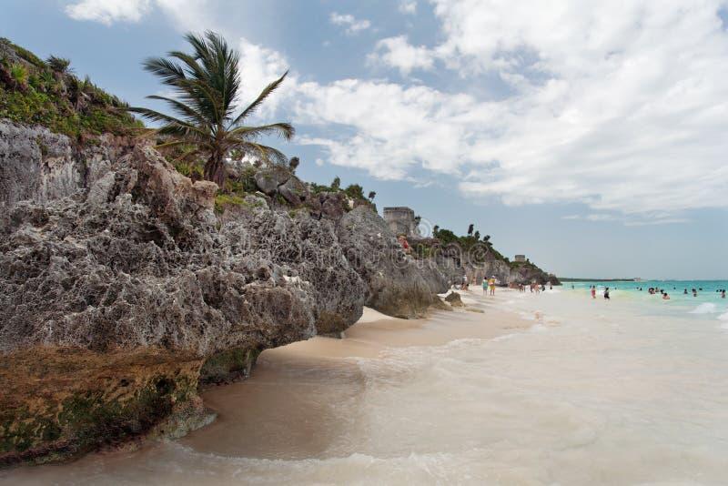 Meksyku plażowy Tulum Yucatan obrazy stock