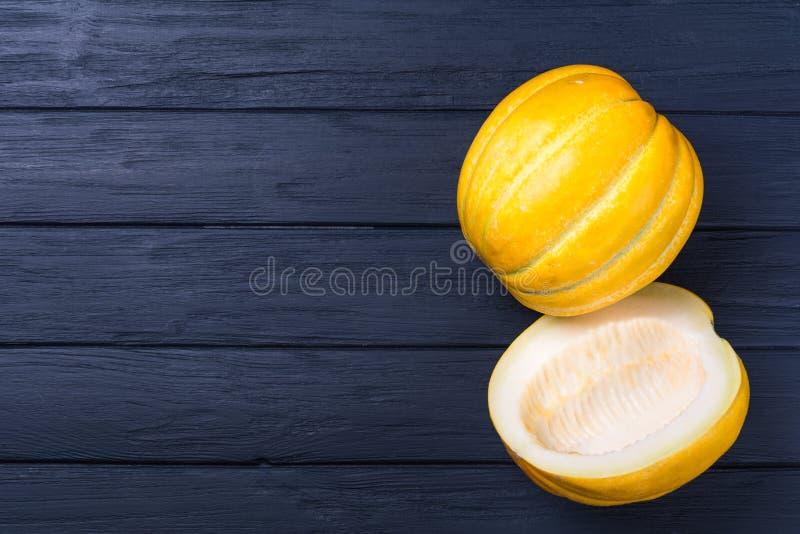 Melão amarelo do cantalupo fotos de stock