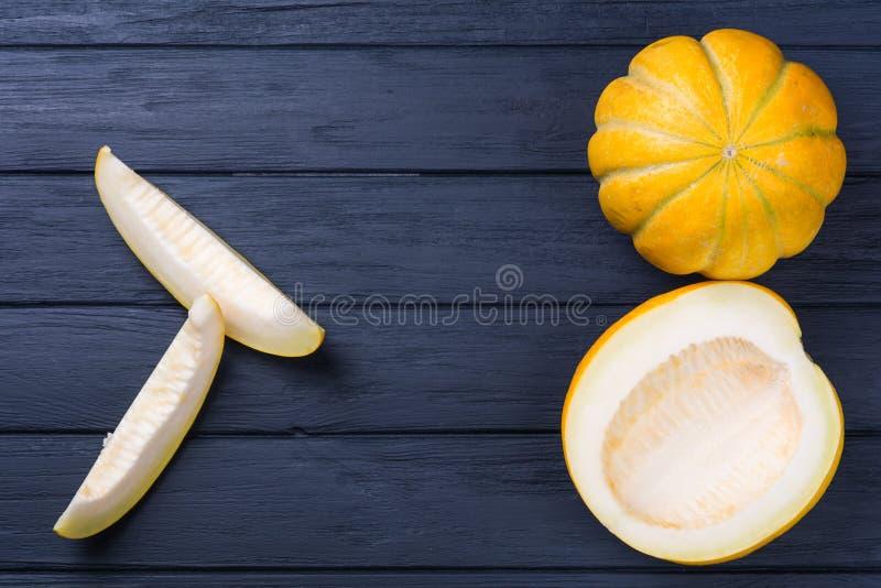 Melão amarelo do cantalupo imagens de stock