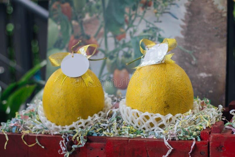 Melão amarelo do cantalupo fotografia de stock