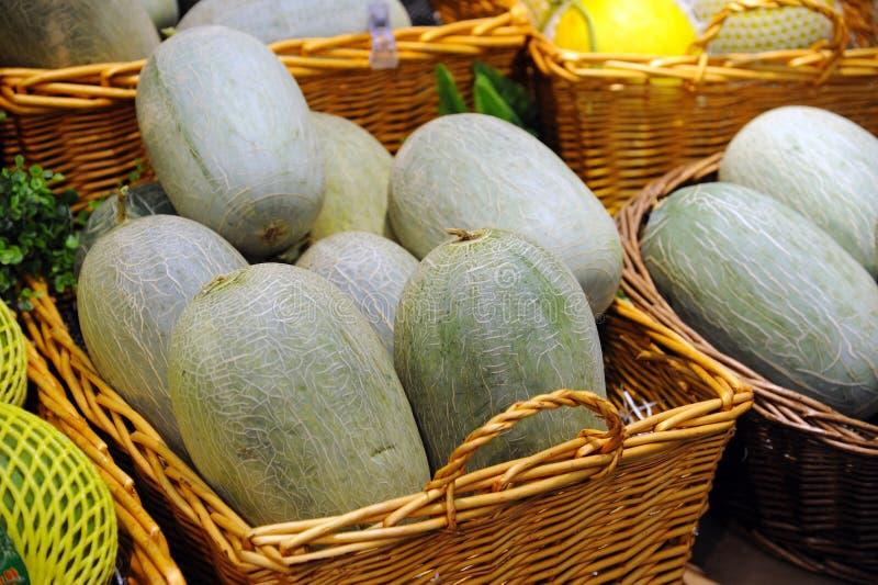 Melão de Hami (uma variedade de muskmelon) fotos de stock royalty free