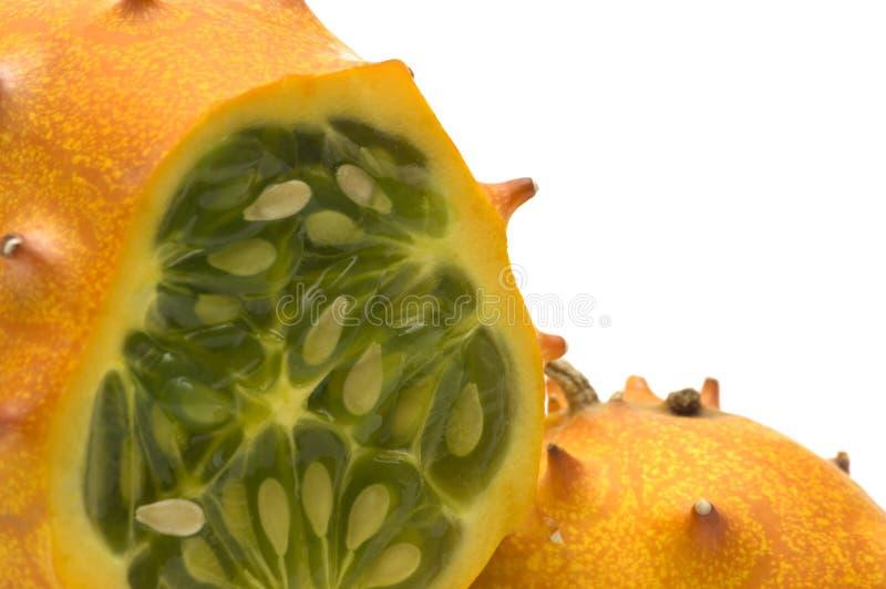 Melão de Kiwano foto de stock