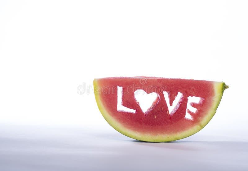 Melão do amor imagem de stock