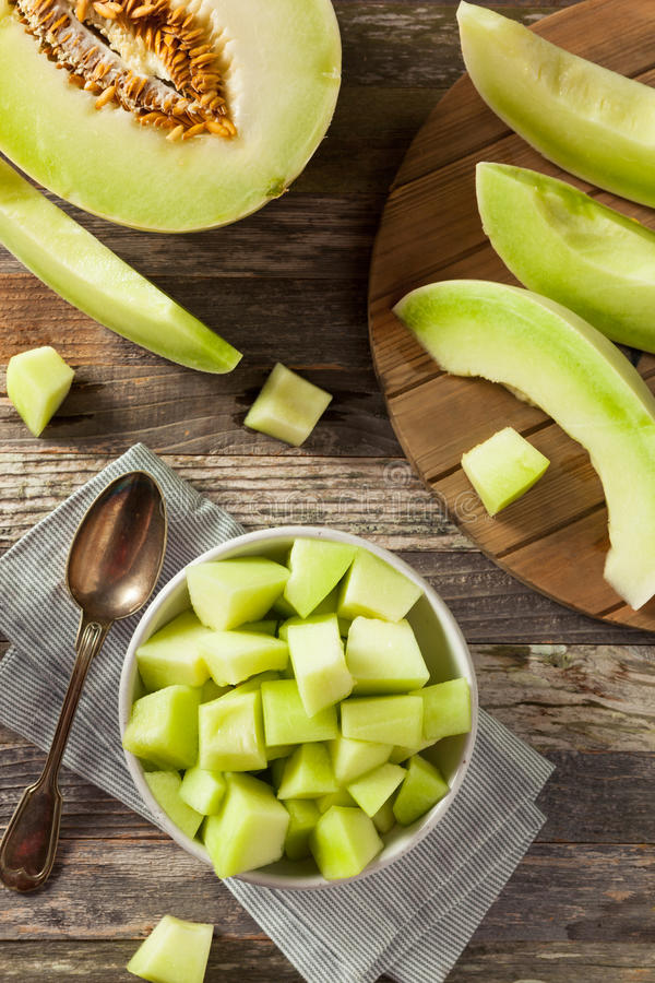 Melão orgânico verde foto de stock