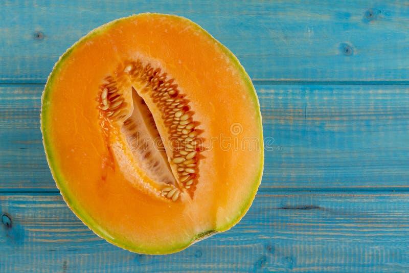 Melón orgánico fresco del cantalupo imagen de archivo