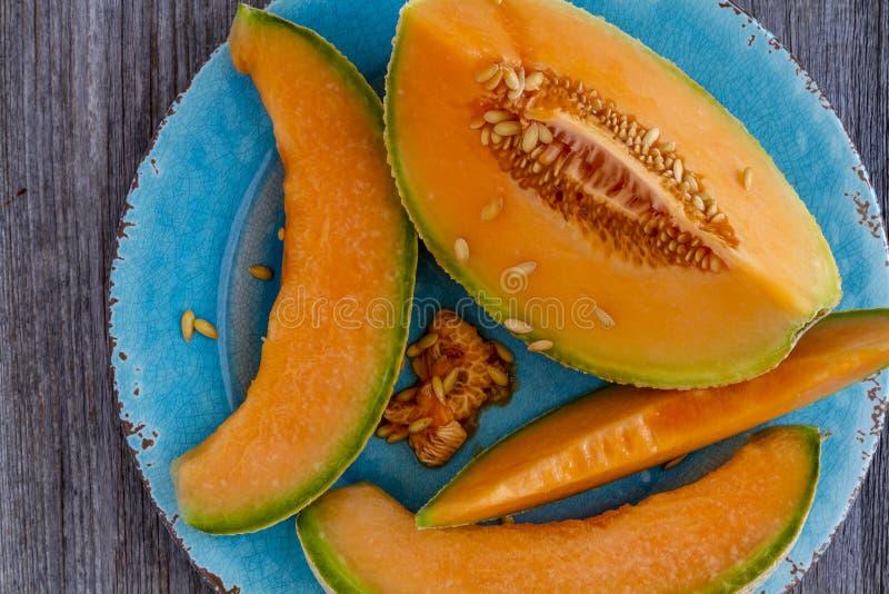 Melón orgánico fresco del cantalupo foto de archivo libre de regalías