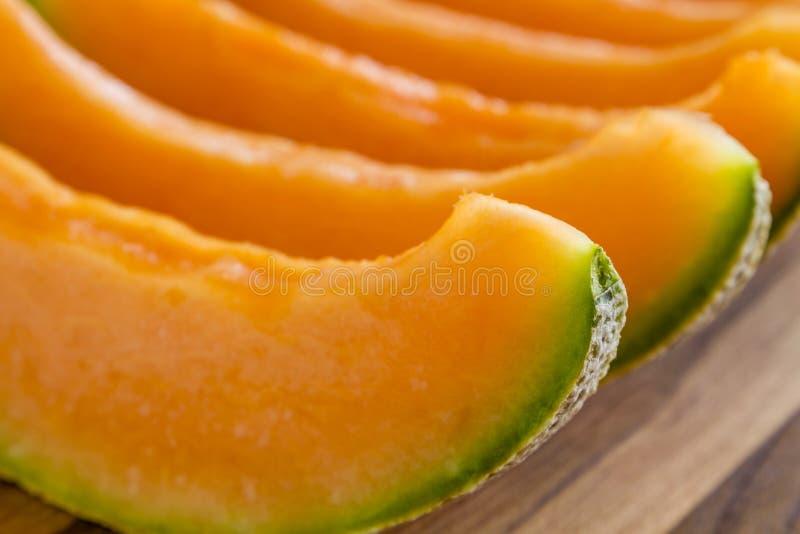 Melón orgánico fresco del cantalupo fotos de archivo
