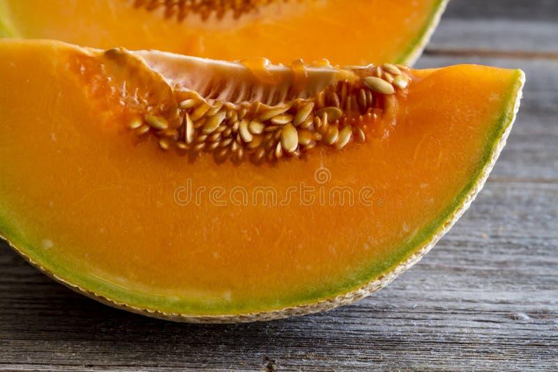 Melón orgánico fresco del cantalupo foto de archivo