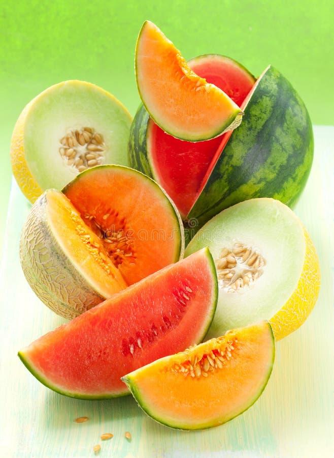 Melões e melancia foto de stock