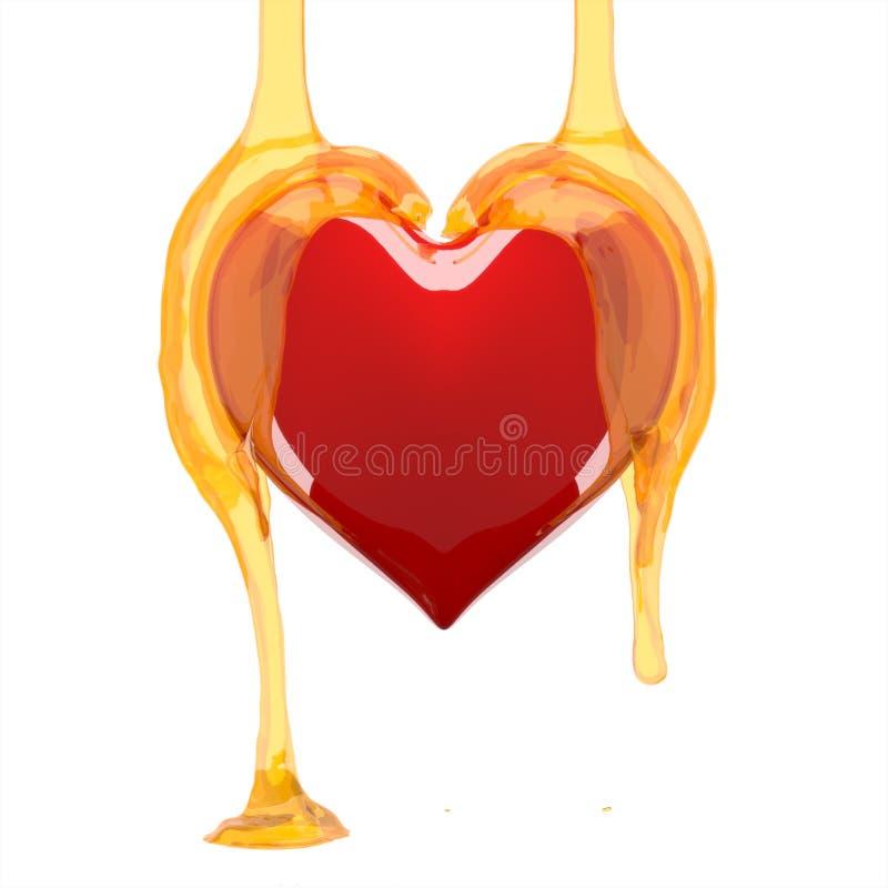 Mel do coração. ilustração royalty free