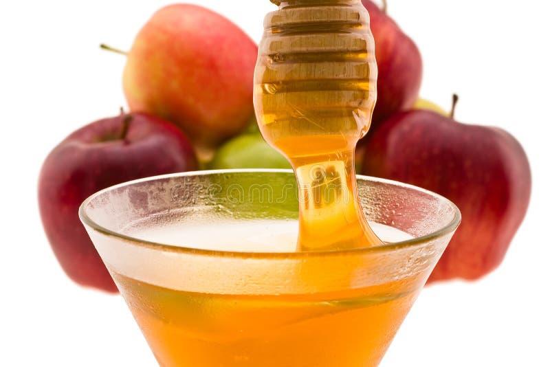 Mel e maçã fotografia de stock