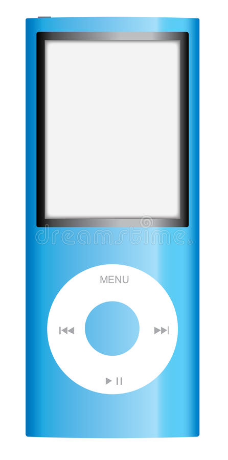 Mela blu iPod Nano fotografia stock