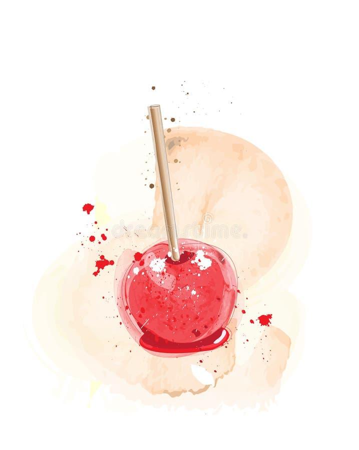 Mela di Candy acquerella royalty illustrazione gratis