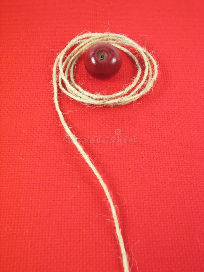 Download Mela e stringa rosse fotografia stock. Immagine di dolce - 3138490