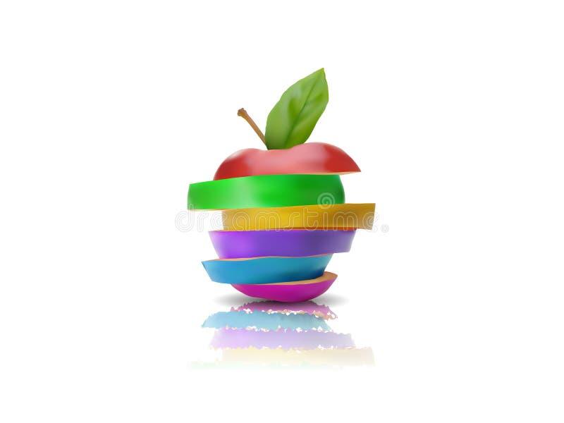 Mela multicolore fotografie stock libere da diritti