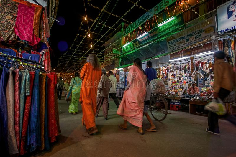 MELA pushkar fair sadar bazaar pushkar main shopping road near ajmer rajasthan stock images