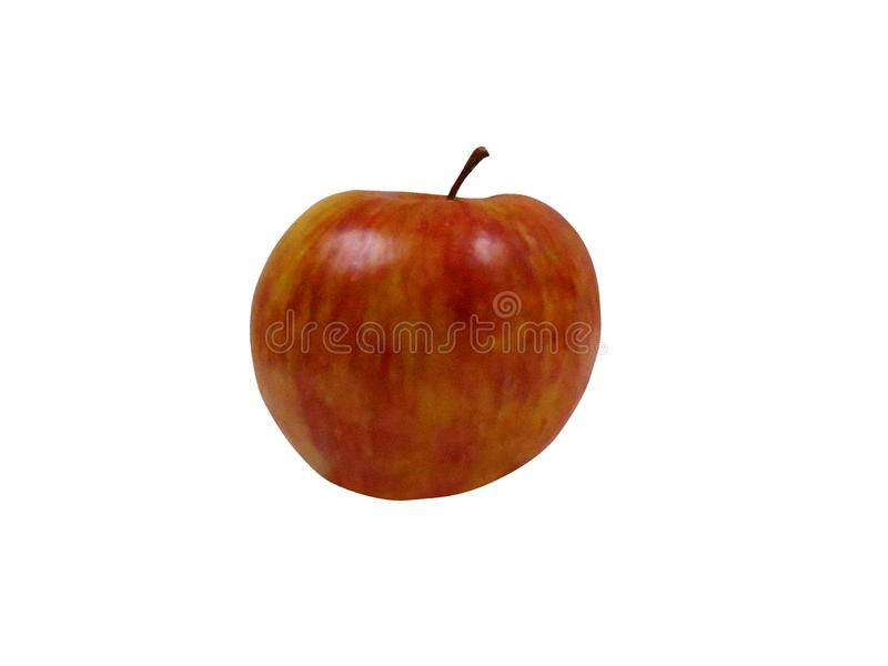 Mela rossa con fondo bianco da utilizzare nel logos fotografie stock libere da diritti