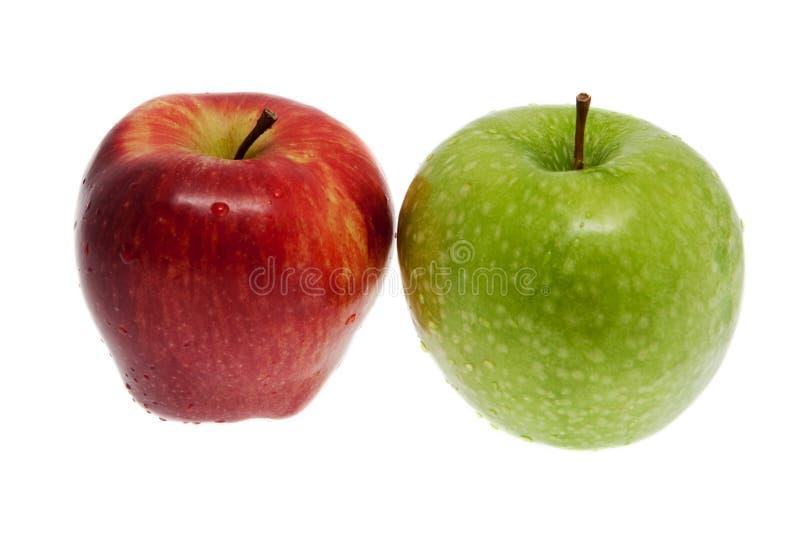 Mela rossa e verde fresca immagine stock