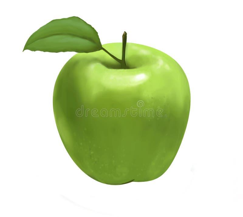 Mela verde illustrazione di stock
