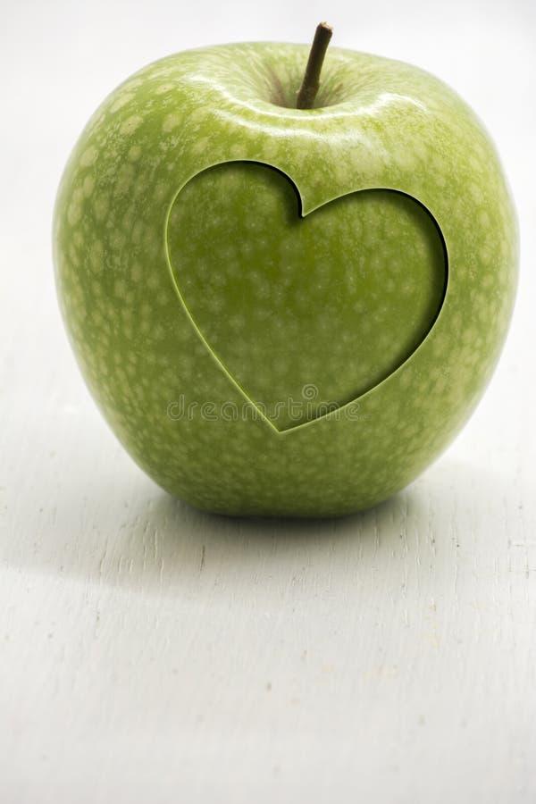 Mela verde e salute immagini stock