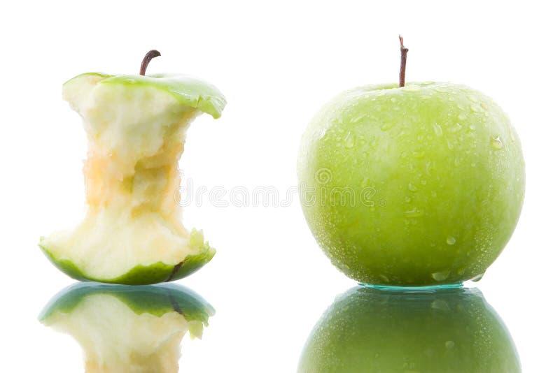 Mela verde pungente e fresca fotografia stock