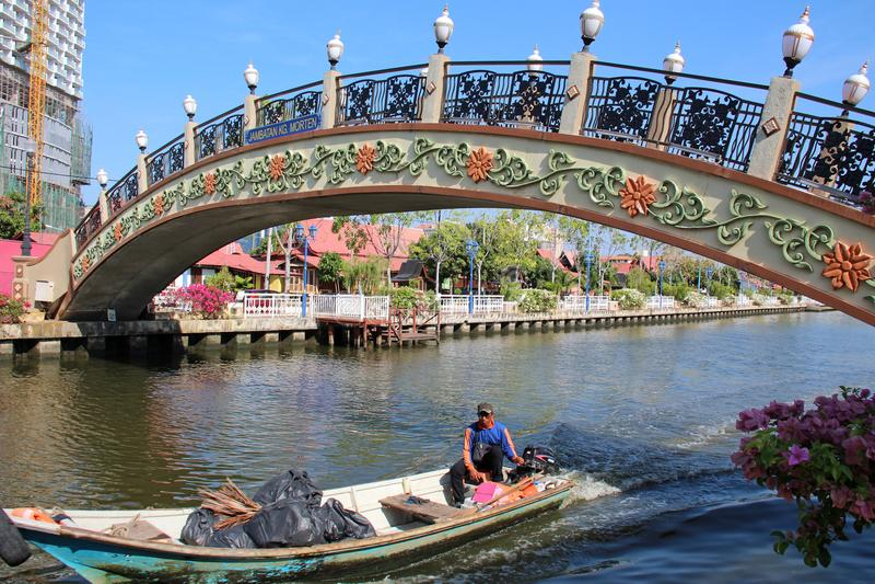 Melaka桥梁 库存图片
