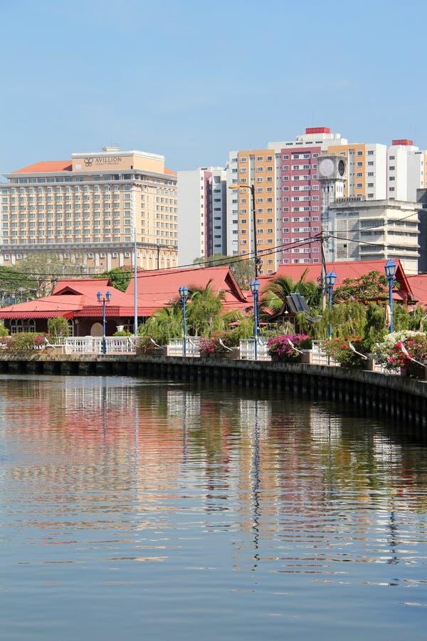 Melaka河巡航-马六甲,马来西亚 免版税库存图片