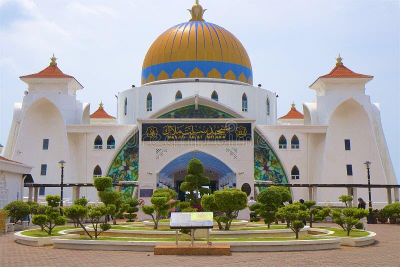 Melaka海峡清真寺 免版税库存图片
