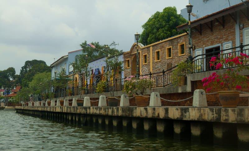 Melaka, beira-rio de Melacca em Malásia imagem de stock royalty free
