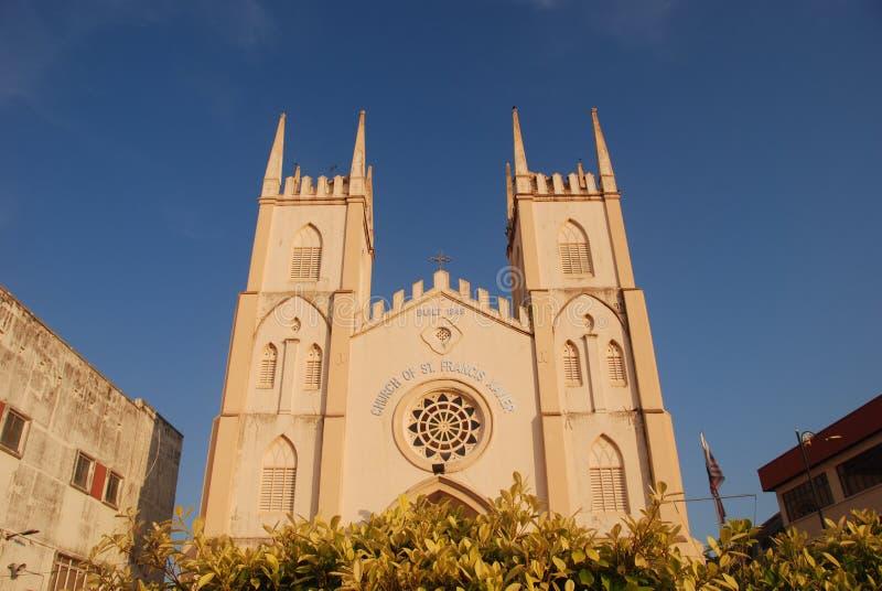 Melaka Heilige Francis Xavier Church royalty-vrije stock afbeelding