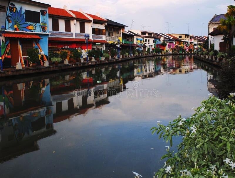 Melaka hermoso - frente del río - Malasia verdad Asia fotografía de archivo