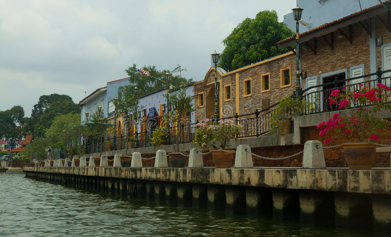 Melaka, Melacca riverside in Malaysia. royalty free stock image