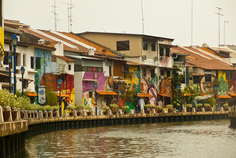 Melaka, Melacca riverside in Malaysia. royalty free stock photography