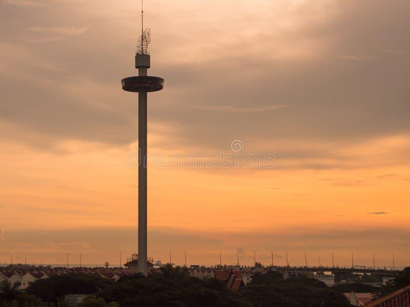 Melaka torn på den Malacca staden, Malaysia arkivbilder