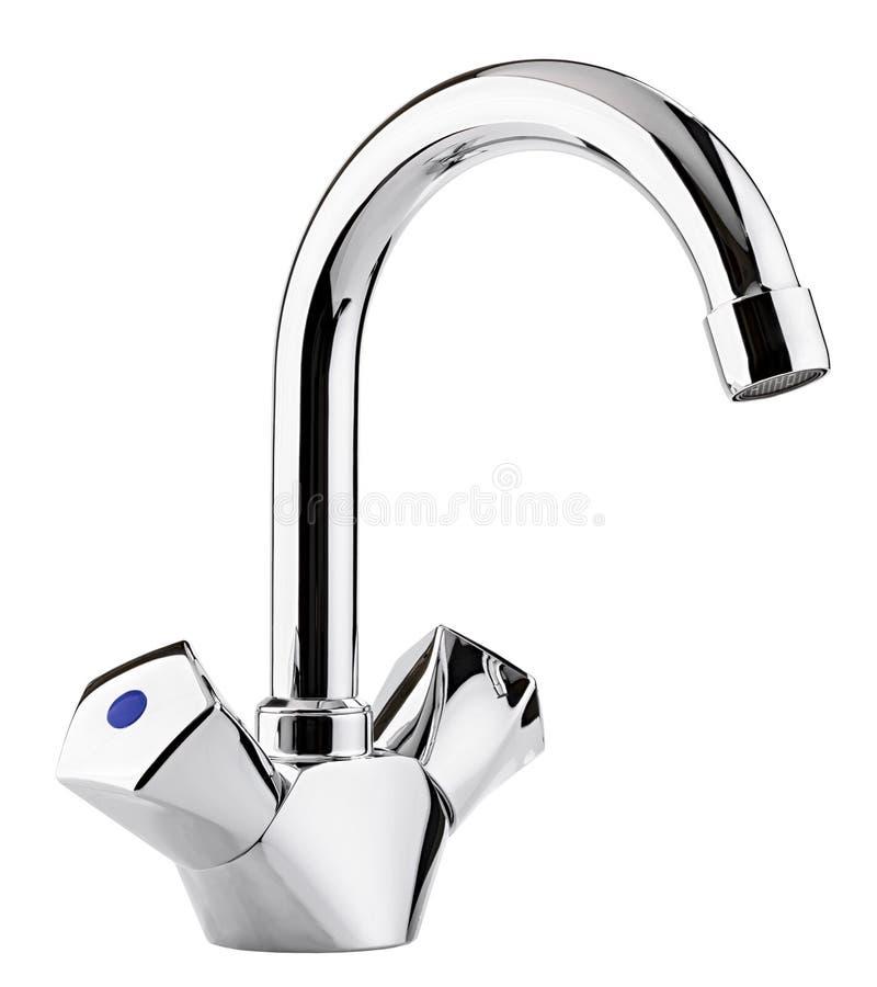 Melanżeru zimna gorąca woda Nowożytna faucet łazienka Kuchni klepnięcie Ja obraz stock