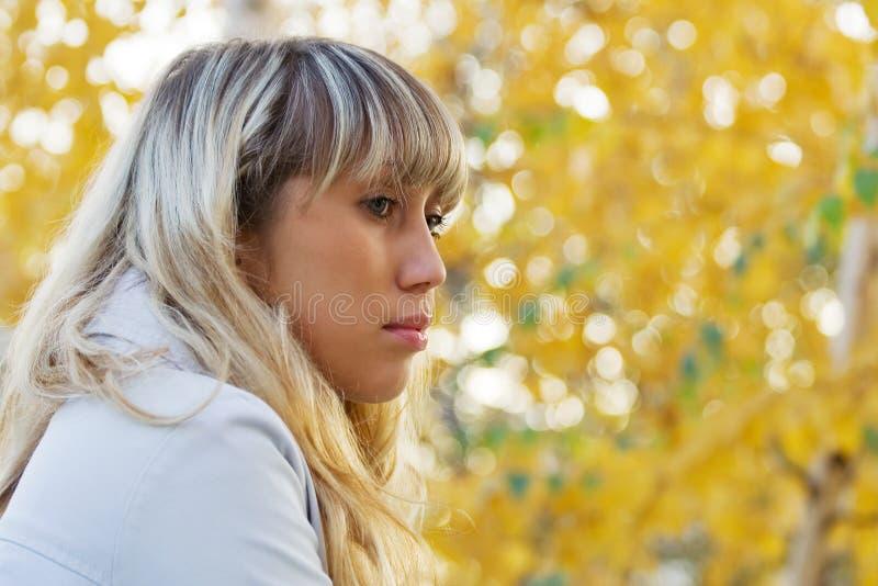 melancholic SAD kvinna arkivfoton