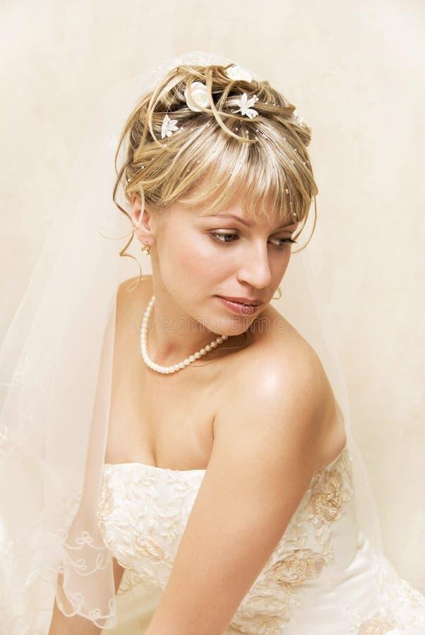melancholiczka panny młodej fotografia royalty free