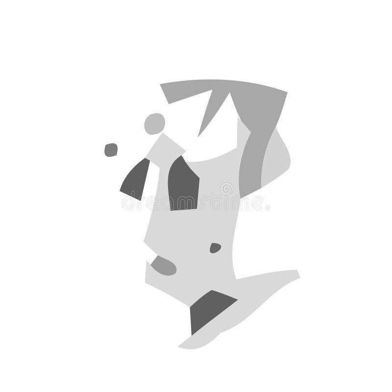 Melancholie vector illustratie