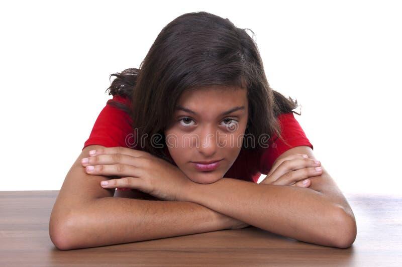 Download Melancholy Brunette Teenage Girl Stock Image - Image: 20820205