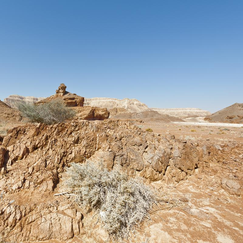 Melancholy and emptiness of the desert in Israel stock photo