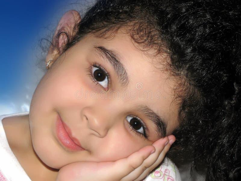 Download Melancholy little girl stock photo. Image of caress, model - 26336708