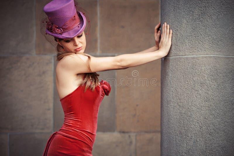 Download Melancholy woman stock image. Image of column, cylinder - 26838209